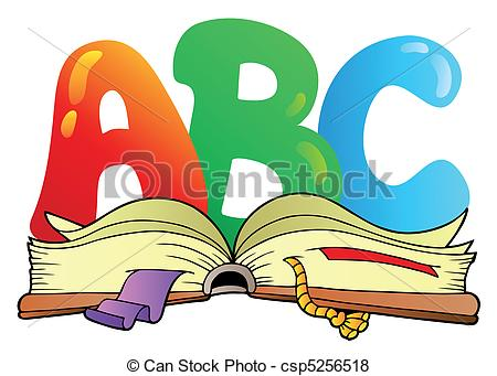 Letter clipart abc Illustration vector open letters book