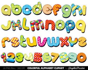 Lettering clipart writing letter Art art Color letters Digital