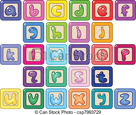Letter clipart alphabet block Clipart Illustration 177 Alphabet 3