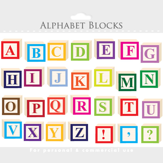 Letter clipart alphabet block Letterblocks Alphabet letter blocks clipart