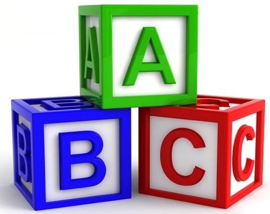 Letter clipart alphabet block Art Baby Alphabet Block Collection