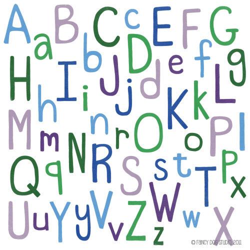 Lettering clipart scrapbook Digital  Clipart Digital Font