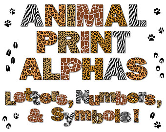Safari clipart alphabet Etsy Letters Scrapbooking Party Zoo