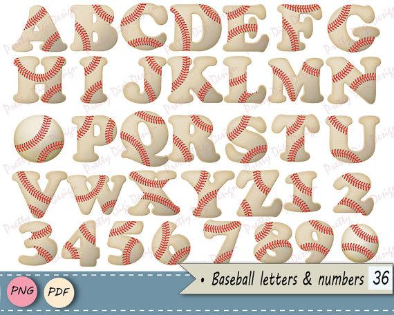 Letter clipart baseball Clip PrettyDigiDesign letters  Baseball