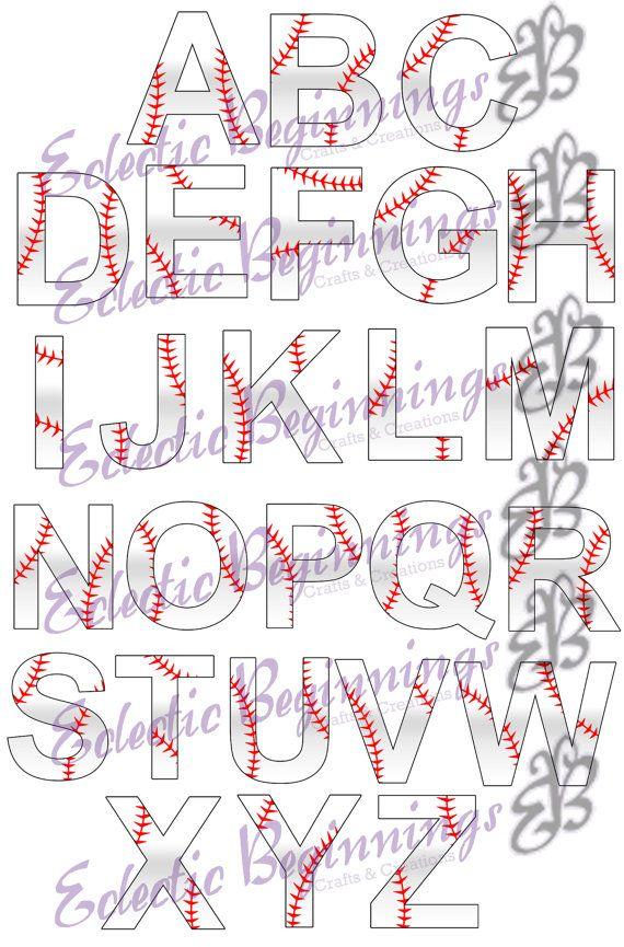 Letter clipart baseball Pinterest Digital ideas 25+ PNG