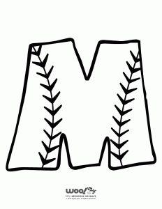 Letter clipart baseball Letter Alphabet Baseball Printable R