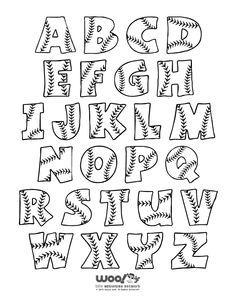 Letter clipart baseball Alphabet that Baseball Baseball letters