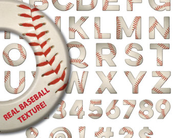 Letter clipart baseball Font ALPHABET clip numbers letter