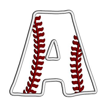 Letter clipart baseball Applique letter Designs Letter baseball
