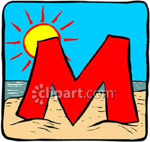 Letter clipart beach M m Sunny collection Clipart