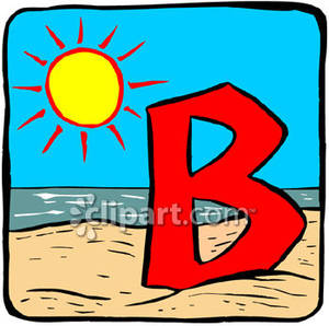 Letter clipart beach Letter Clipart Beach Free Free
