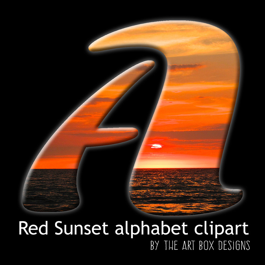 Letter clipart beach Sunset file is  Alphabet