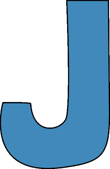 Letter clipart blue Art Clip J Blue Free