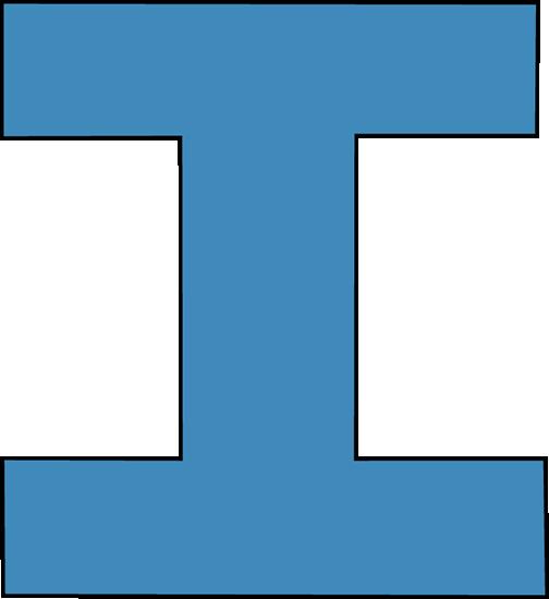 Letter clipart blue I Letter Clipart Letter Download