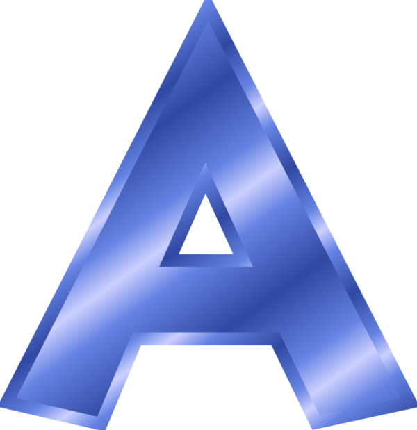 Blue clipart letter a Metallic and Letter A Blue