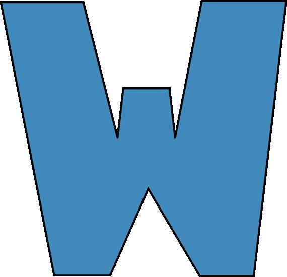 Letter clipart blue W Letter Alphabet Blue Blue
