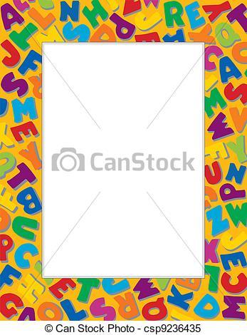 Letter clipart border Alphabet Alphabet Frame Alphabet of
