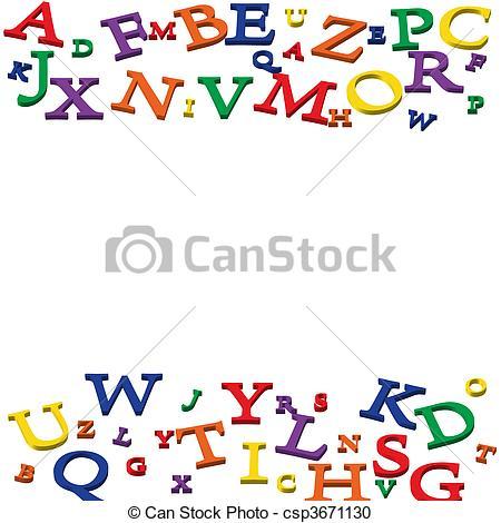 Letter clipart border Letters Stock Illustration Border csp3671130