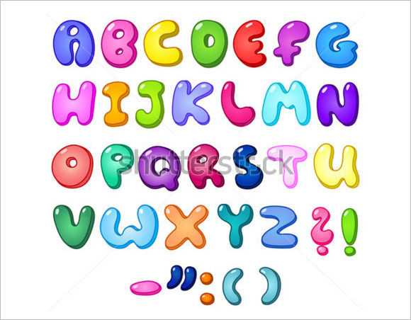 Lettering clipart bubble Collection 3D Font Bubble
