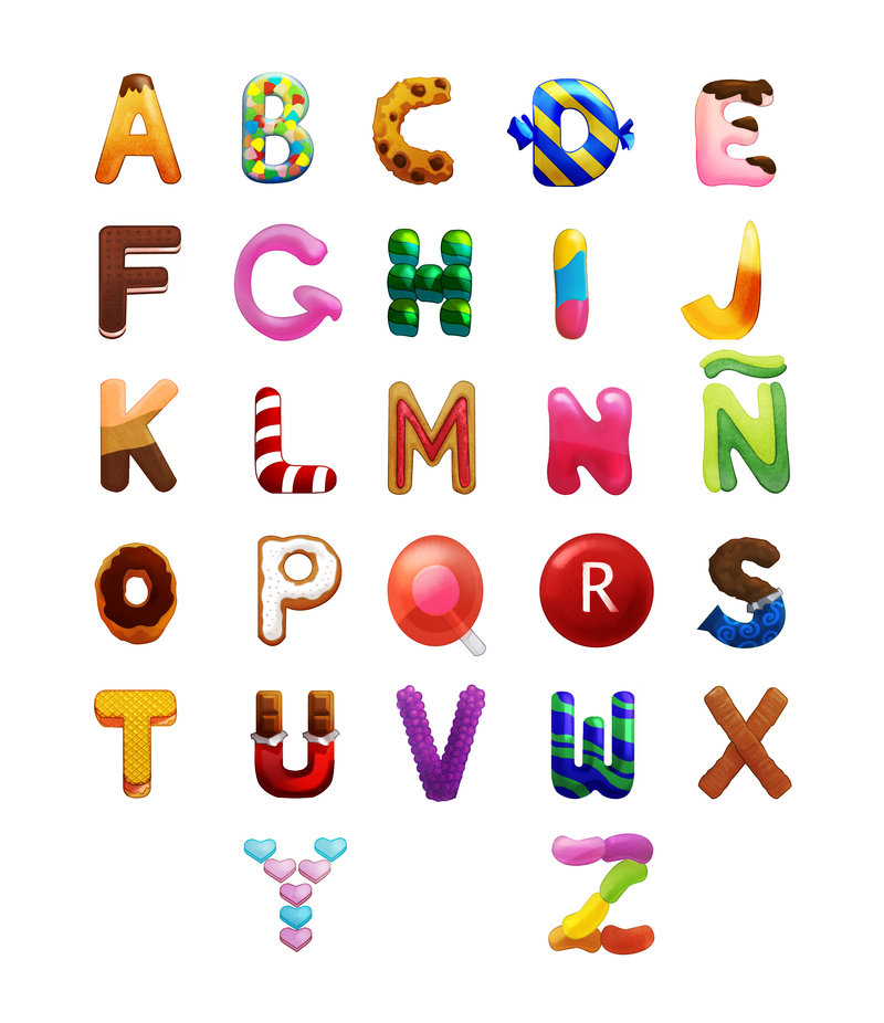 Letter clipart candy Typografie Candy Pinterest letters Candy