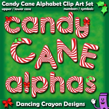Letter clipart candy Crayon alphabet Cane candy by
