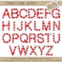 Letter clipart candy #alphabet Cane Alphabet Luvly