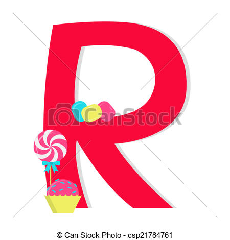 Letter clipart candy Of Vector from alphabet Letter