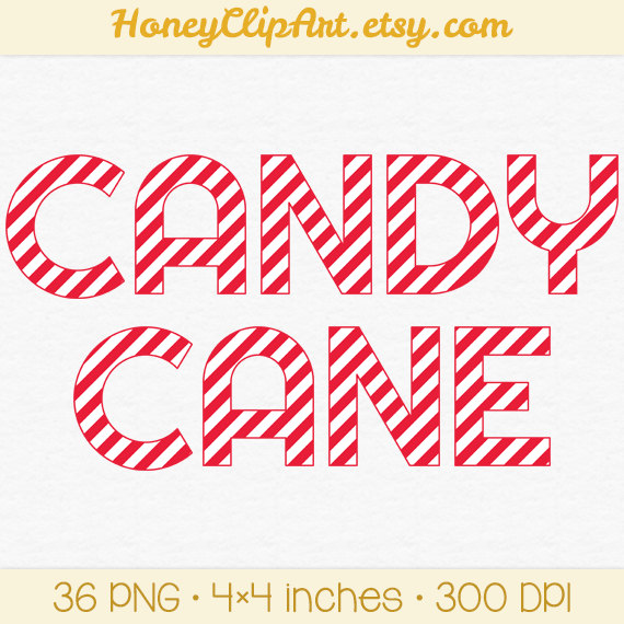 Letter clipart candy White Christmas Candy Red Letter