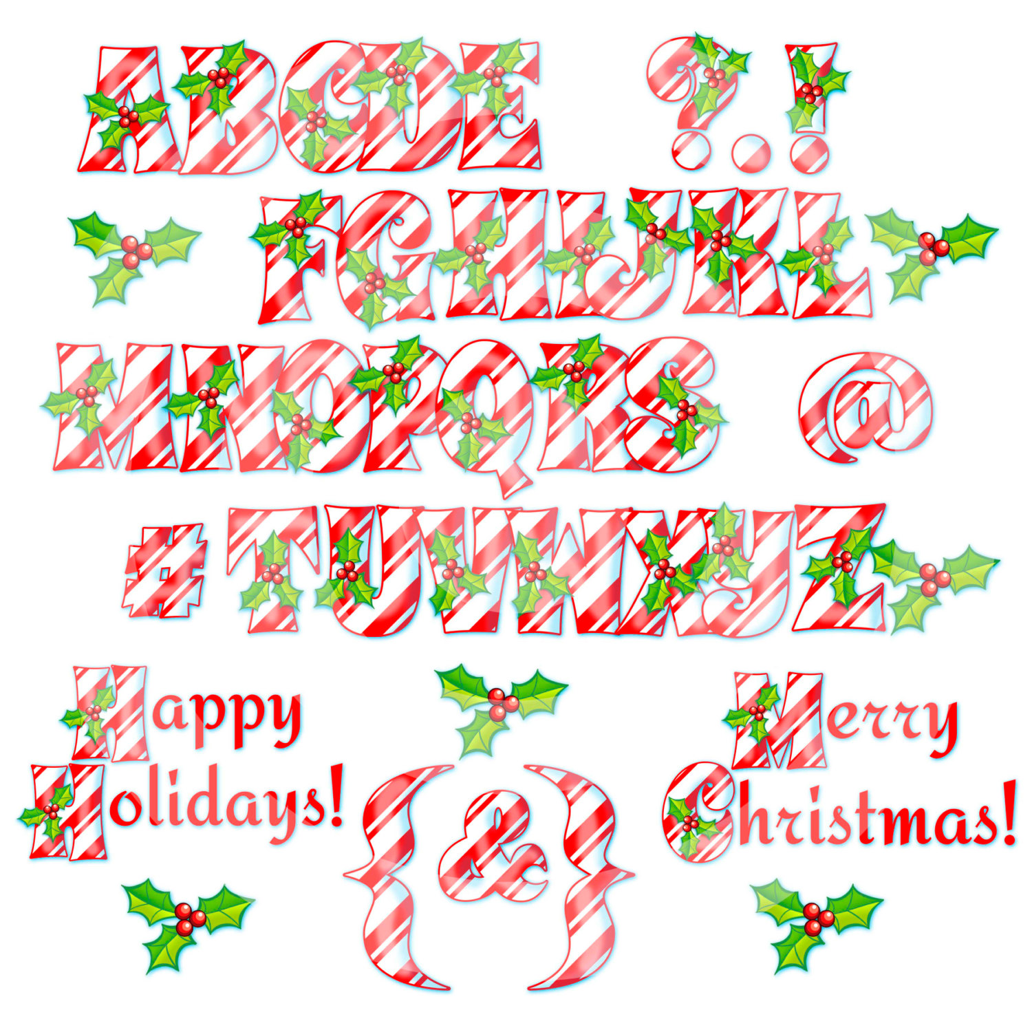Letter clipart candy Lower case Clipart Letters Digital