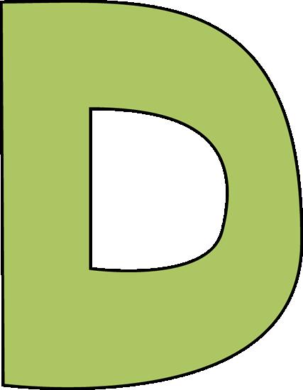 Larger clipart letter a Clipart Letter  Capital D