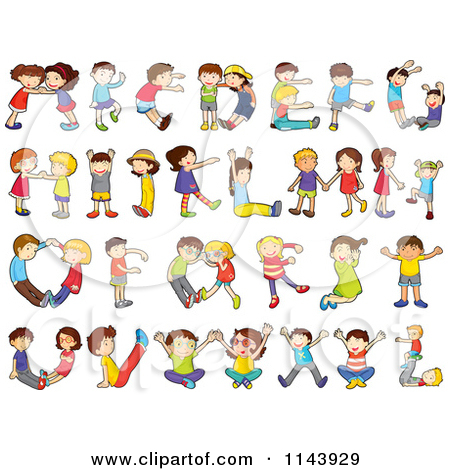 Lettering clipart writing letter Alphabet Free Cartoon Children Of
