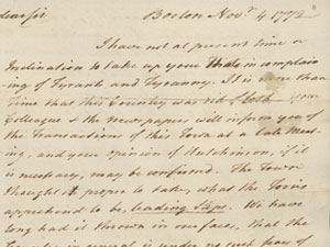 Letter clipart correspondence Of Committees Correspondence from Revolution