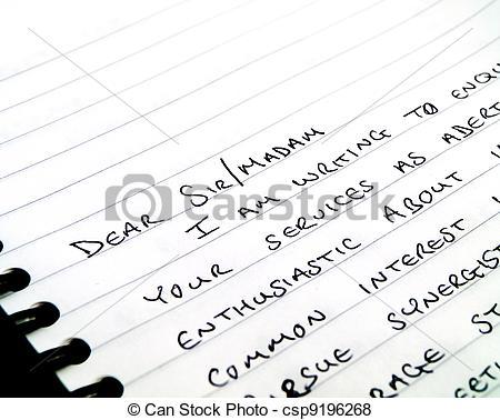 Letter clipart dear letter Csp9196268 Dear on Letter a