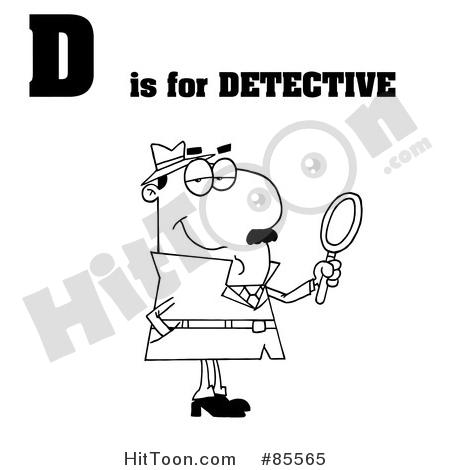 Letter clipart detective Stock & Larger Royalty D