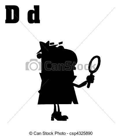Letter clipart detective With D With of csp4325890