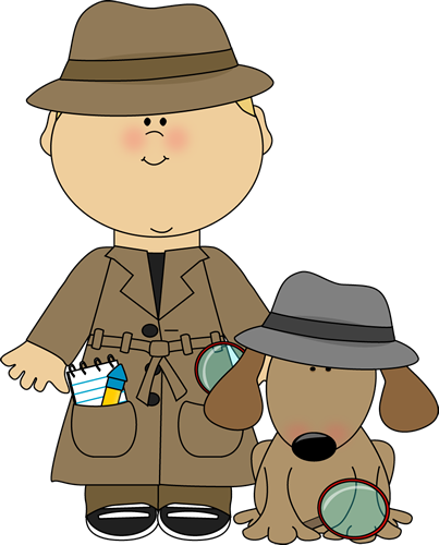 Letter clipart detective  clue Looking Art Image