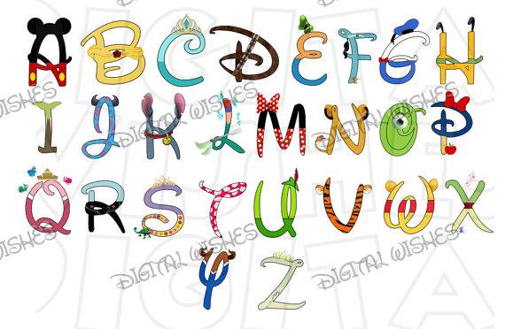 Letter clipart disney Alphabet Digital letters character Z