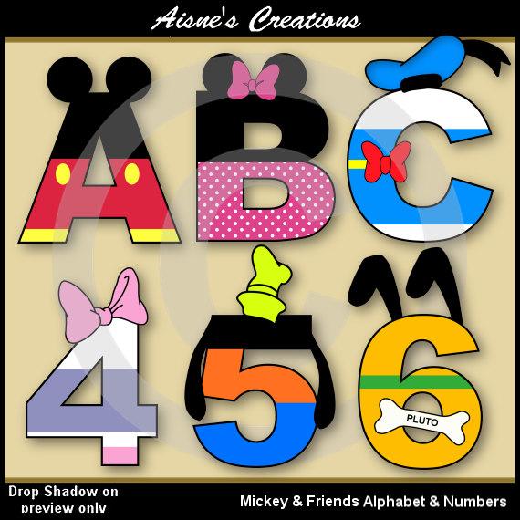 Letter clipart disney Alfabeto Clip números amigos y