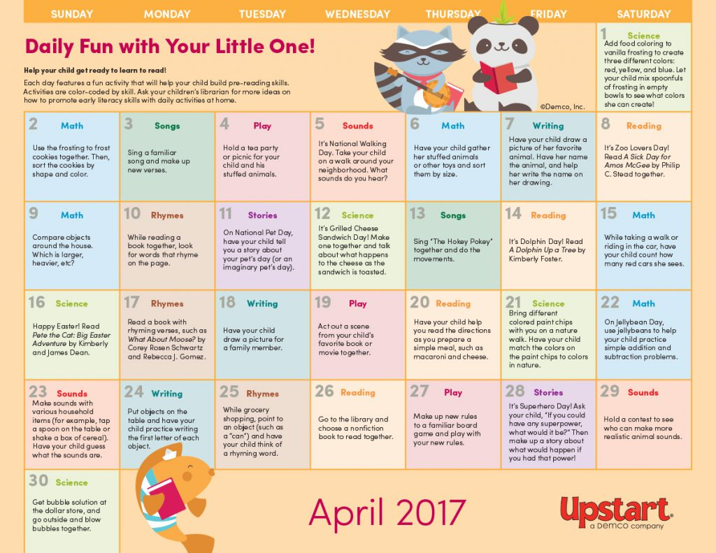 Letter clipart early literacy April Literacy 2017  Activity