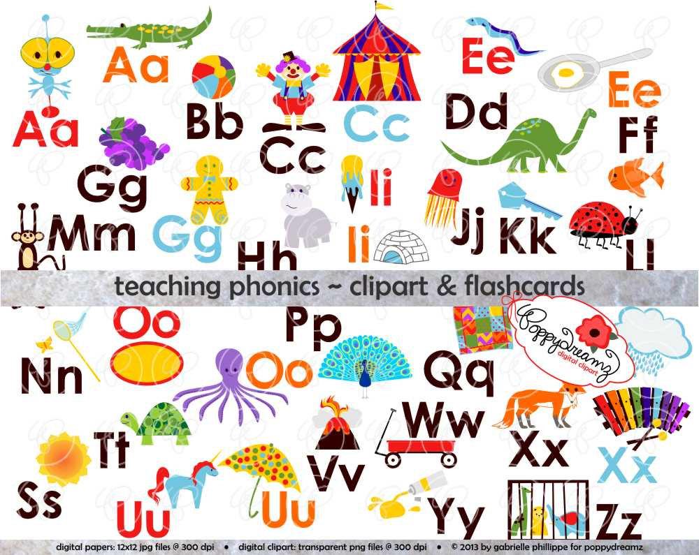 Letter clipart flashcard Alphabet Set School Digital Teacher