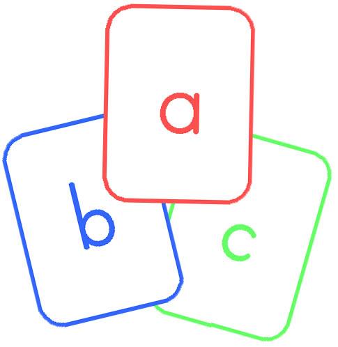 Letter clipart flashcard Alphabet Cards Lower Alphabet Cards