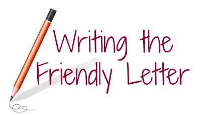 Letter clipart friendly letter Lesson: A  Writing Letter