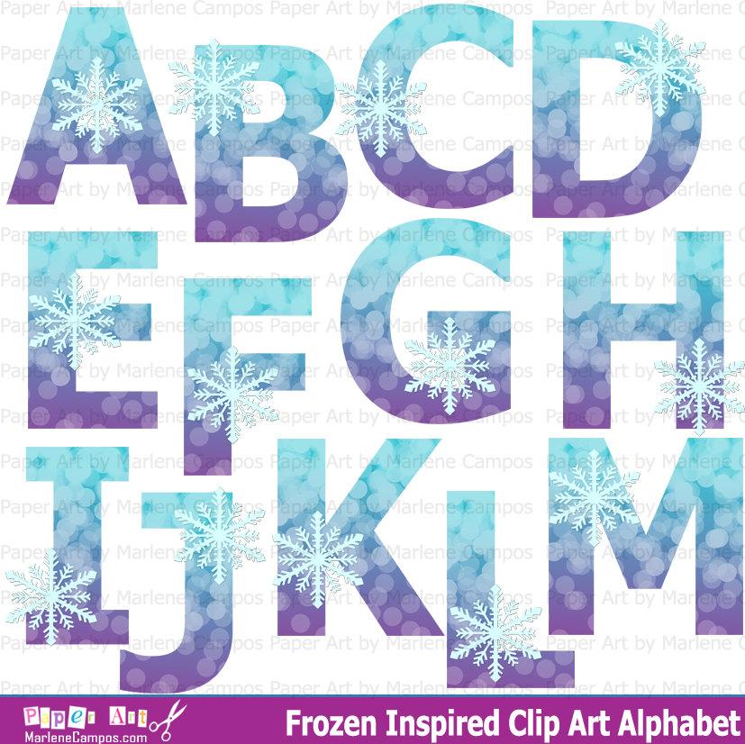 Letter clipart frozen Clipart  Letters Frozen Resolution