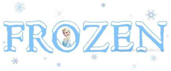 Letter clipart frozen  Frozen Font