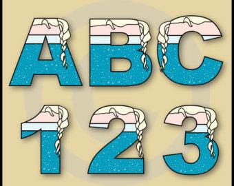 Letter clipart frozen Numbers Art Elsa Frozen Graphics