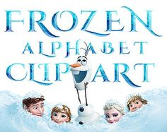 Letter clipart frozen Printable Numbers Letters Frozen
