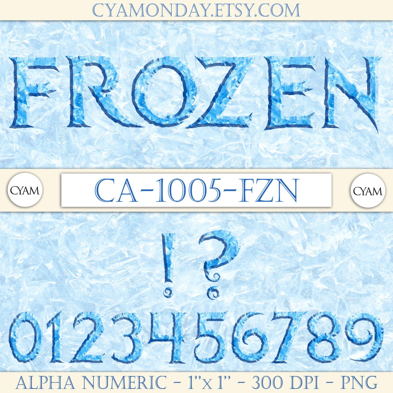 Letter clipart frozen Clip Letters Blue Frozen By