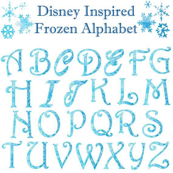 Letter clipart frozen Com/listing/203408573 best Disney images Pinterest