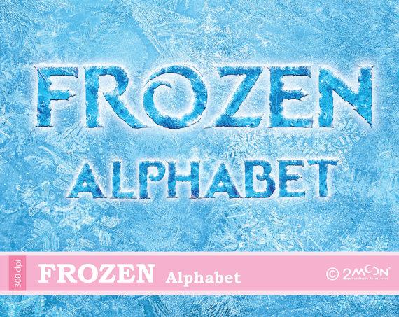 Letter clipart frozen  File Toppers/Digital Frozen DIY/Cupcake
