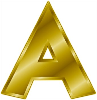 Larger clipart letter a Clipart gold Free letter Images